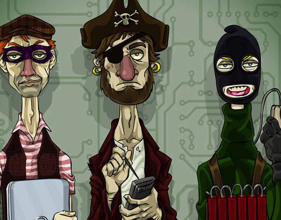 Hackers - ilustração como exercício para capa de revista.