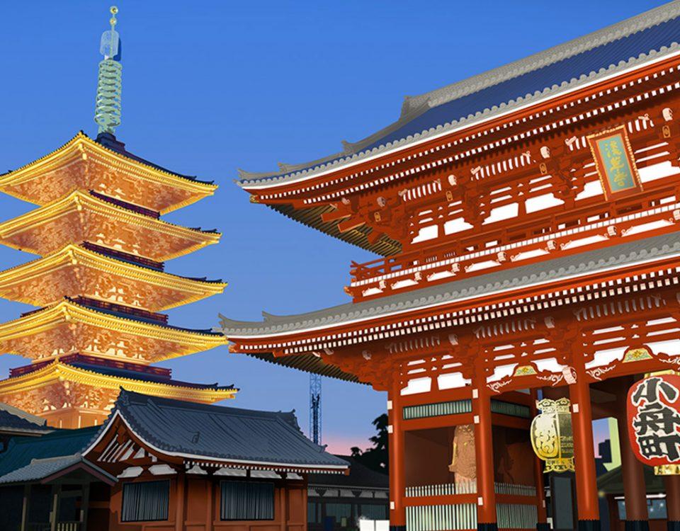 Tokyo - cenário para jogo online.