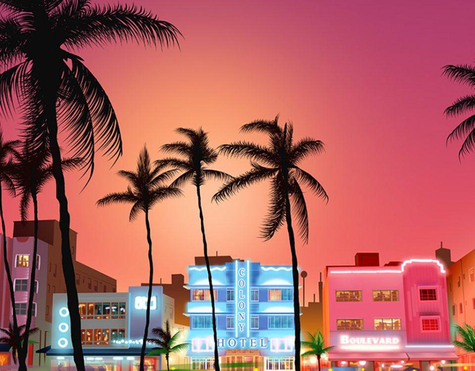 Miami - cenário para jogo online.