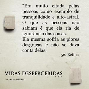 Frase 07 | Vidas Despercebidas